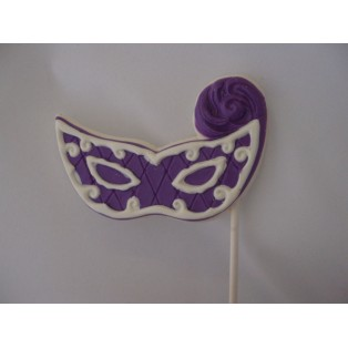 Mardi Gras Mask with Feather