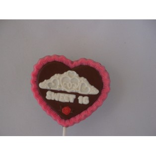 Heart & Tiara Sweet 16 Pop