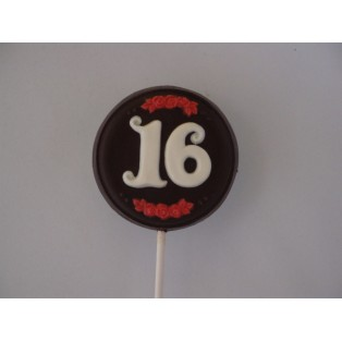 The Number 16 in Round Pop