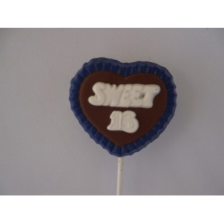 Sweet 16 in Heart Pop with lace trim
