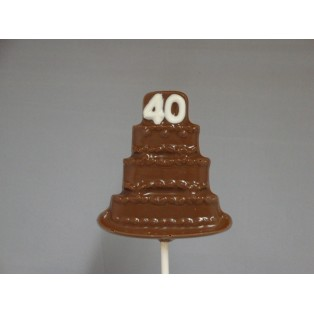 The number 40 on a Birthday Cake