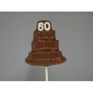 The number 60 on a Birthday Cake