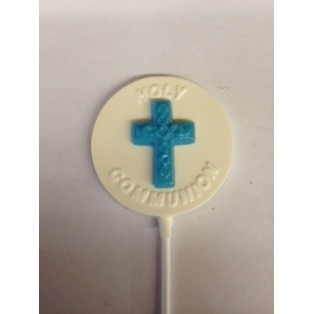 Round Holy Communion Pop with 3D Cross
